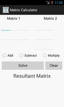Matrix Calculator screenshot 1