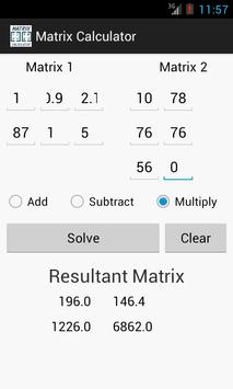 Matrix Calculator screenshot 2