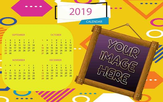 2019 Calendar Photo Frames screenshot 3
