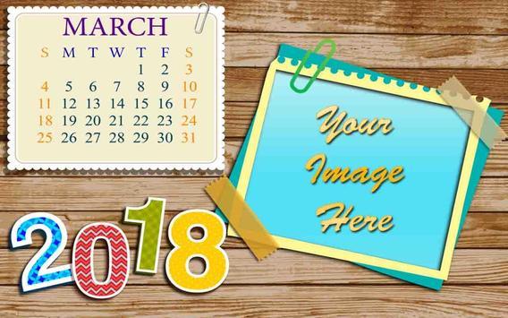 2018 Calendar Photo Frames poster