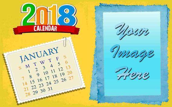 2018 Calendar Photo Frames apk screenshot