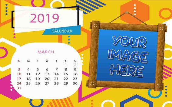 2019 Calendar Photo Frames screenshot 2