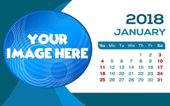Calendar Frames 2018 poster