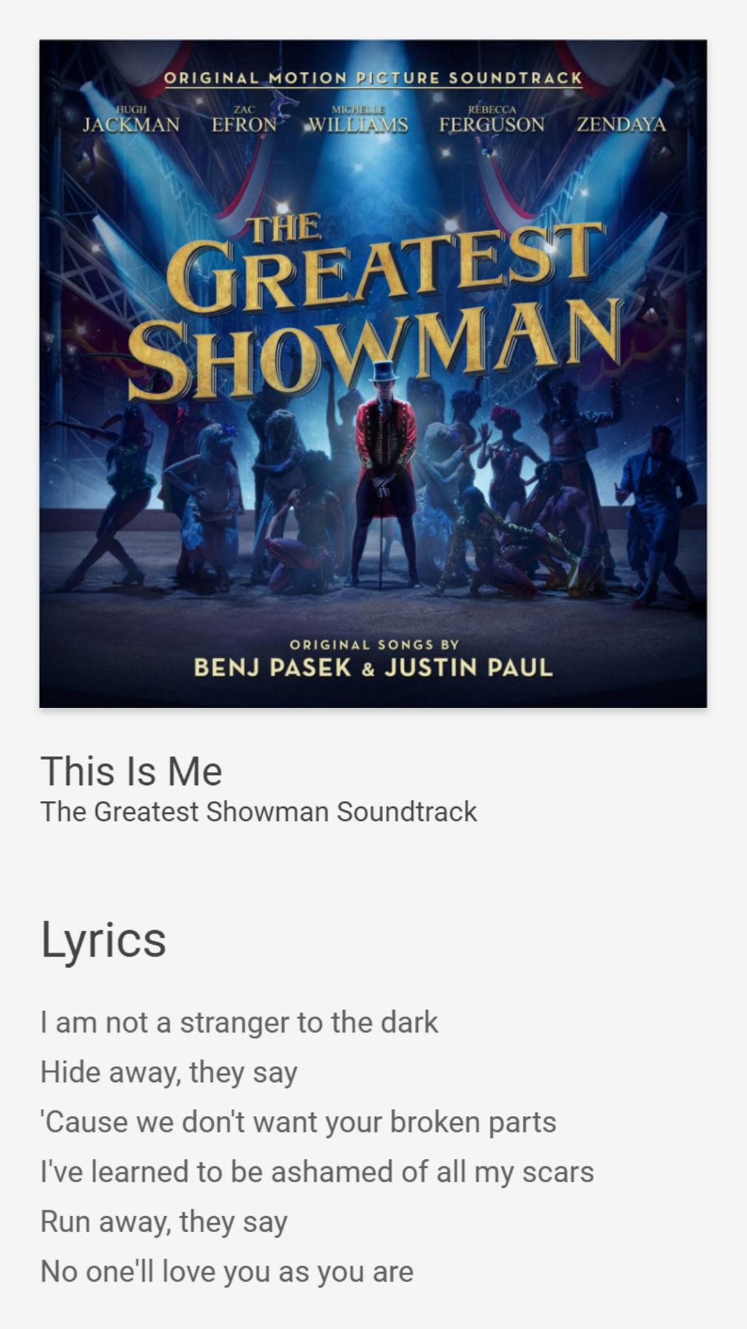 This is me the greatest showman lyrics
