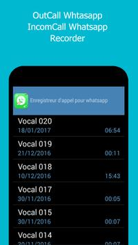 Call recorder for whatsapp poster