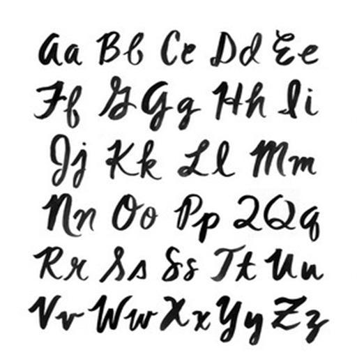 Huruf Kaligrafi Latin A Sampai Z Cikimm Com