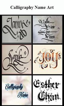 Calligraphy Name Art poster
