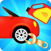car repairing game icon