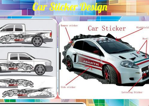 Car sticker design poster