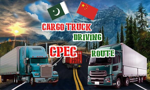 Cargo Truck Driving CPEC Route poster