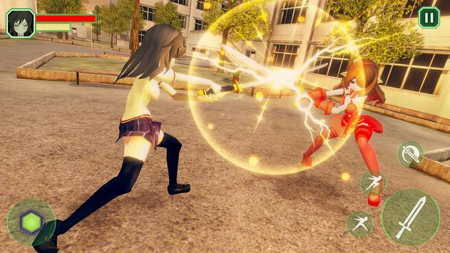 High School Girls-Anime Sword Fighting Games 2018 screenshot 12