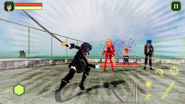 High School Girls-Anime Sword Fighting Games 2018 screenshot 16