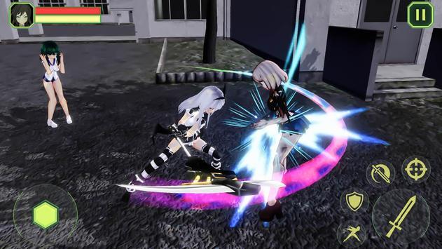 High School Girls-Anime Sword Fighting Games 2018 screenshot 1