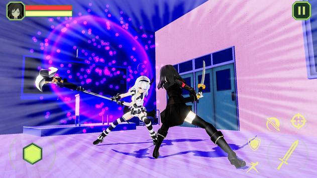 High School Girls-Anime Sword Fighting Games 2018 screenshot 3