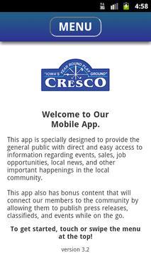 Cresco Area Chamber poster