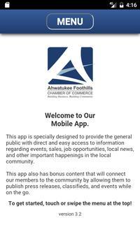 Ahwatukee Foothills Chamber poster