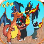 Charizard Dragon pikachu game icon