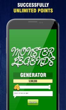Cheat Unlimited Gold Monster Legends🎮App Prank apk screenshot