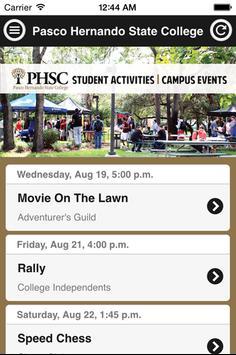 PHSC Events apk screenshot