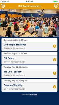 Reinhardt Campus Events screenshot 1
