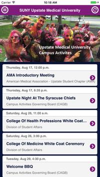Upstate Medical University Campus Activities poster