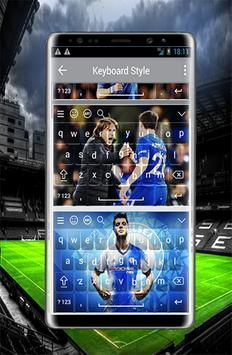 Wonderful keyboard for Chelsea f.c poster