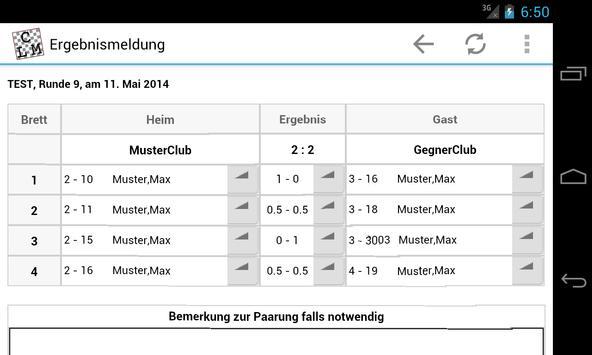 ChessLeagueManager apk screenshot