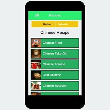 Chinese Recipe apk screenshot