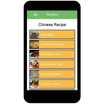 Chinese Recipes apk screenshot