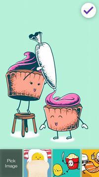 Cute And Funny Kawaii Food Screen Lock poster