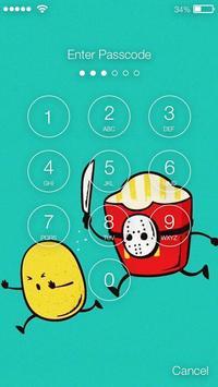 Cute And Funny Kawaii Food Screen Lock apk screenshot