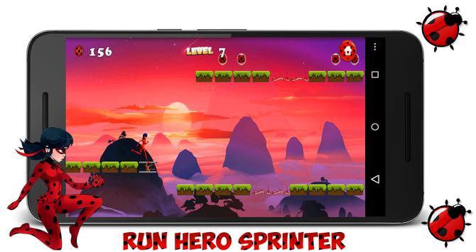 Ladybug Chibi : Cat Running apk screenshot