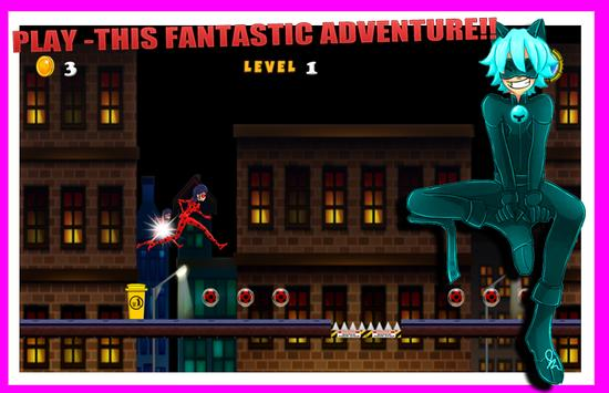 Ladybug The Hero Chibi Running apk screenshot