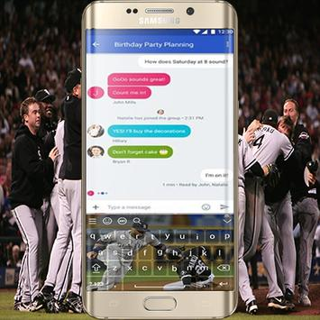 Chicago White Sox Keyboard Theme screenshot 1