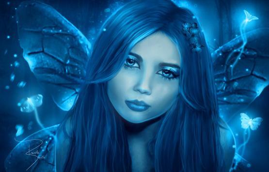 Blue Fairy Live Wallpaper screenshot 3