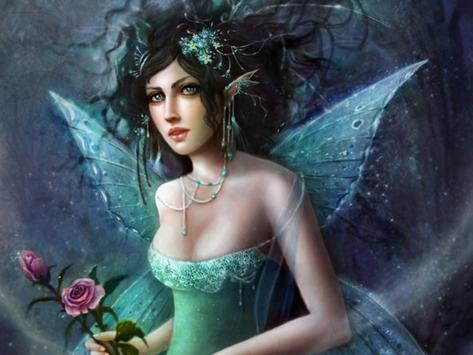 Blue Fairy Live Wallpaper screenshot 1