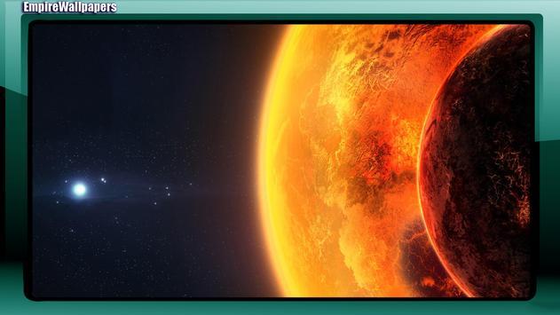 Earth And Sun Wallpaper apk screenshot