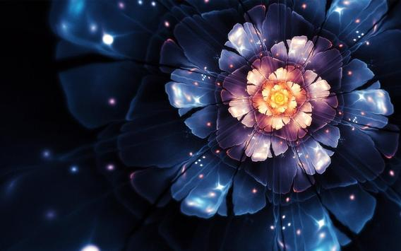 Glowing Flowers Live Wallpaper poster