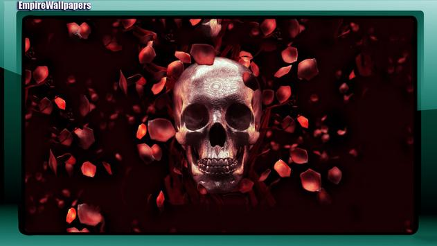 Skull And Roses Wallpaper apk screenshot