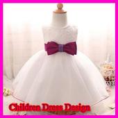 Children dress design icon