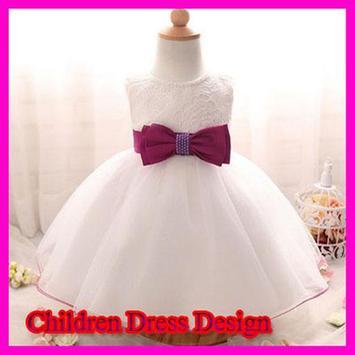 Children dress design poster