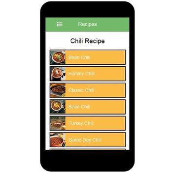 Chili Recipes screenshot 1