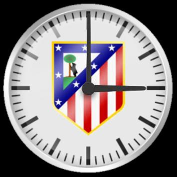 Reloj Atlético de Madrid poster