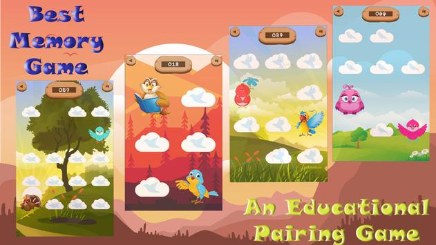 Pair matching game (Bird Matching) screenshot 10