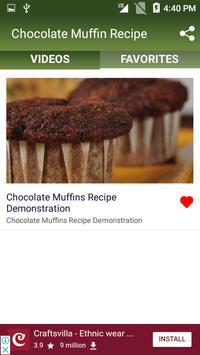 Chocolate Muffin Recipe screenshot 3