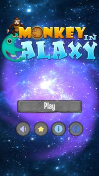 Monkey In Galaxy poster