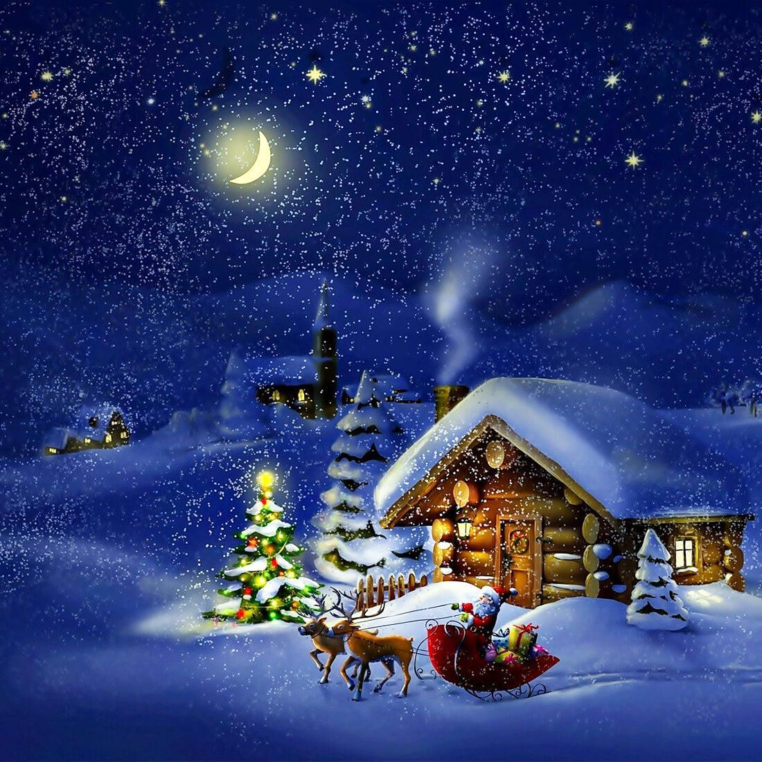 Immagini Natalizie Per Desktop Animate.Notte Di Natale Sfondi Animati For Android Apk Download