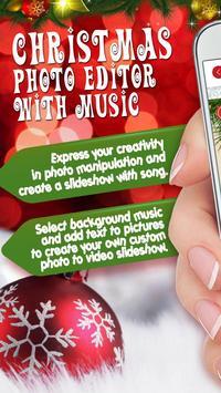 Christmas Photo Editor With Music Slideshow poster