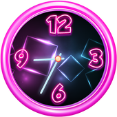 Neon Analog Clock Widget icon