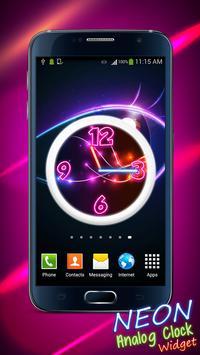 Neon Analog Clock Widget screenshot 4